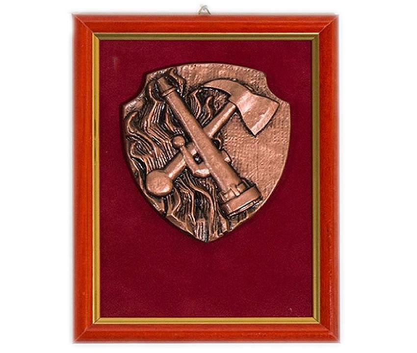 Gasilska plaketa št. 37 ročnik s sekirico